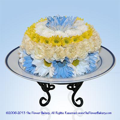 Blue Bassinet� Flower Cake