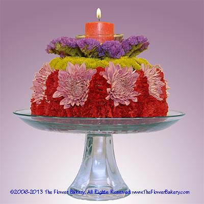 Starlight Flower Cake Send unique flower arrangementsbirthday