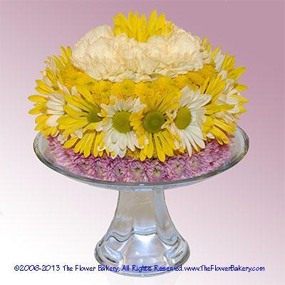 Sunshine Flower Cake Send unique flower arrangementsbirthday